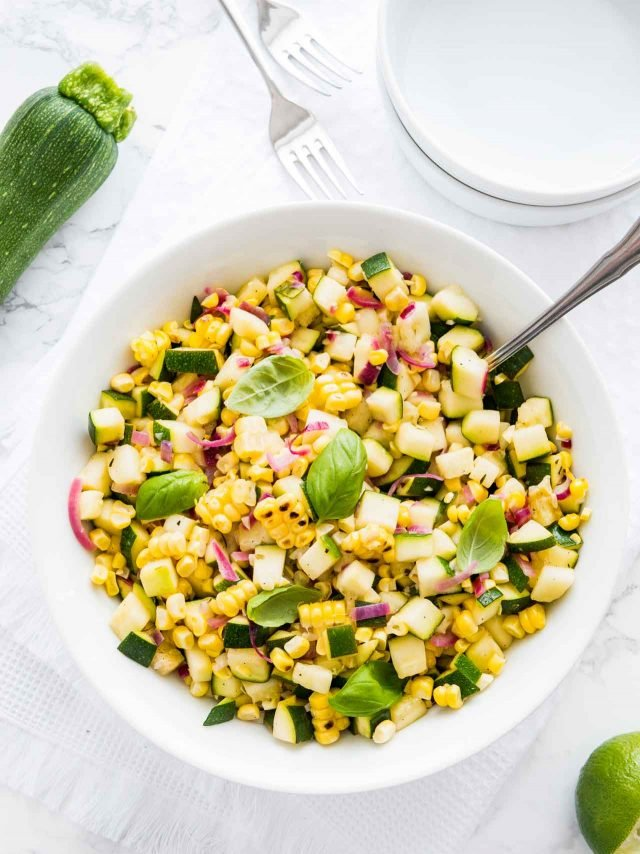 Roasted Corn Zucchini Salad