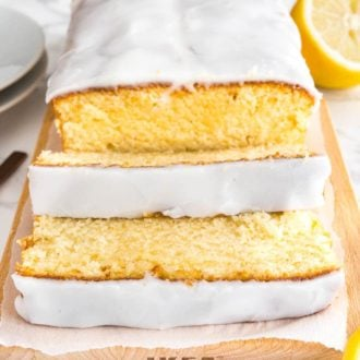 Homemade Lemon Loaf Cake with Lemon Glaze Recipe