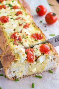 Tomato Feta Stuffed French Bread