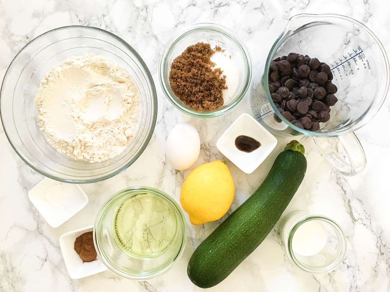 Zucchini Chocolate Chip Muffins Ingredients