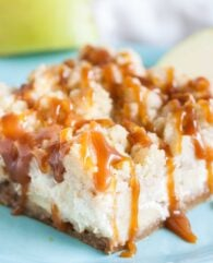 Caramel Apple Cheesecake Bars are the perfect autumn dessert!
