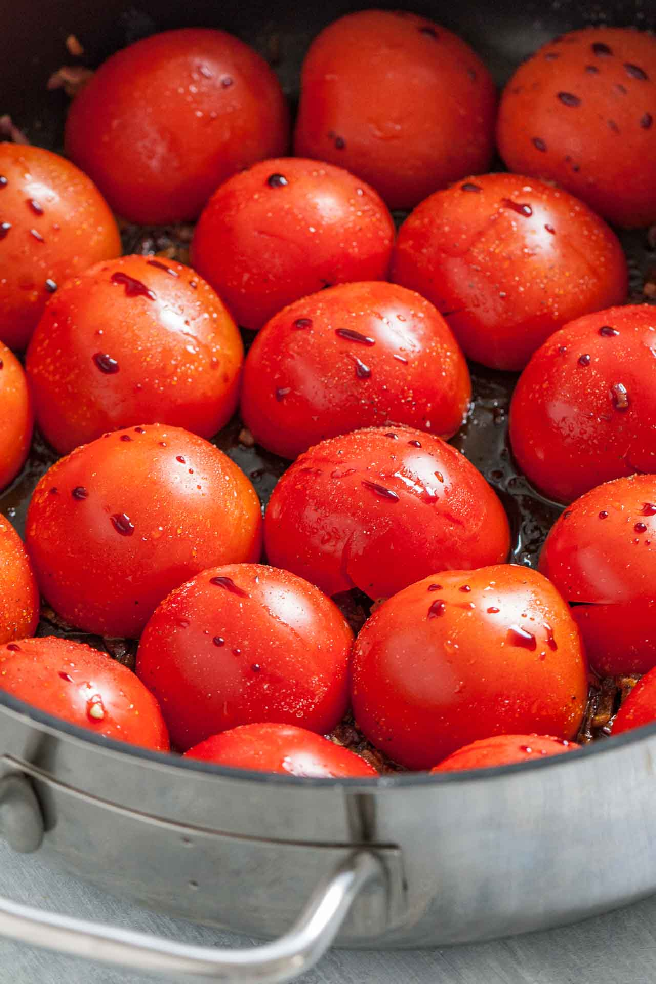 Tomatoes before they go into the oven