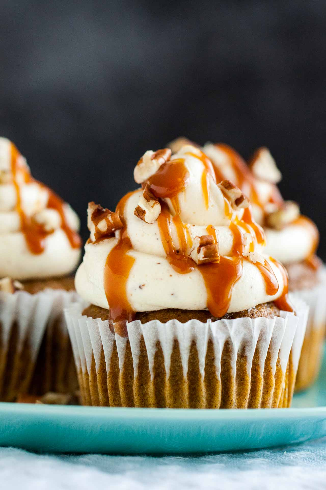 Pumpkin Cupcakes with Brown Butter Frosting