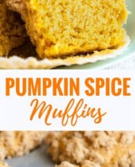 Pumpkin Spice Muffins are so flavorful, have a tender texture and are so moist! They are topped with crunchy pumpkin spice crumbs and take only 10 minutes to whip up. An easy pumpkin muffin recipe that tastes delicious for breakfast, brunch, oras a snack!