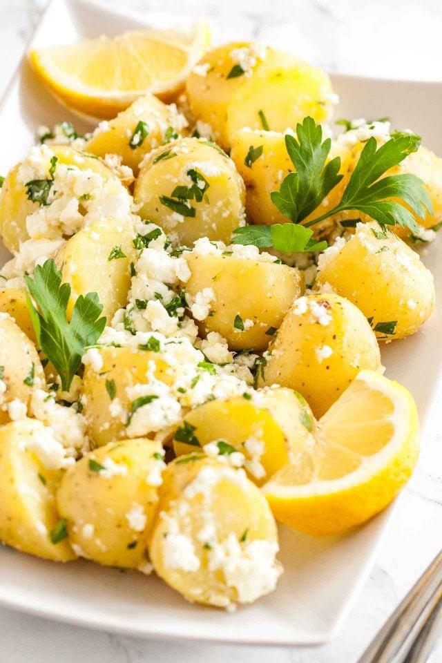 Mediterranean New Potatoes with Feta
