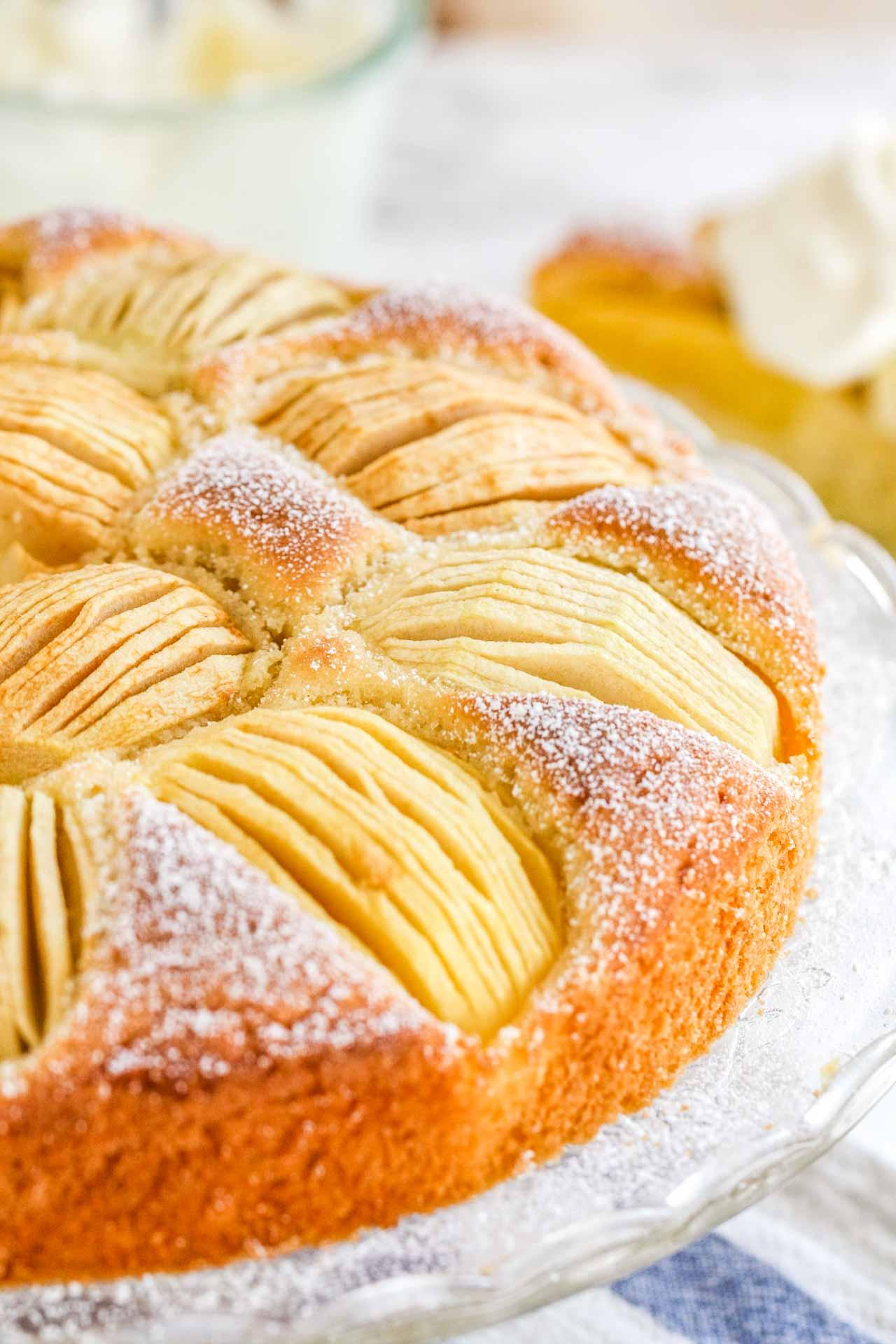 The Easiest German Apple Cake Versunkener Apfelkuchen Recipe