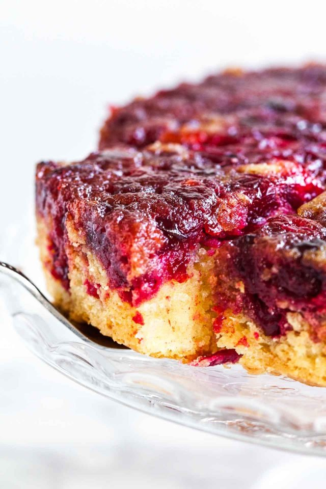 Cranberry Cake made with fresh cranberries and lemon is so flavorful and vibrant! An easy to make from scratch cake that is perfect for the festive season.