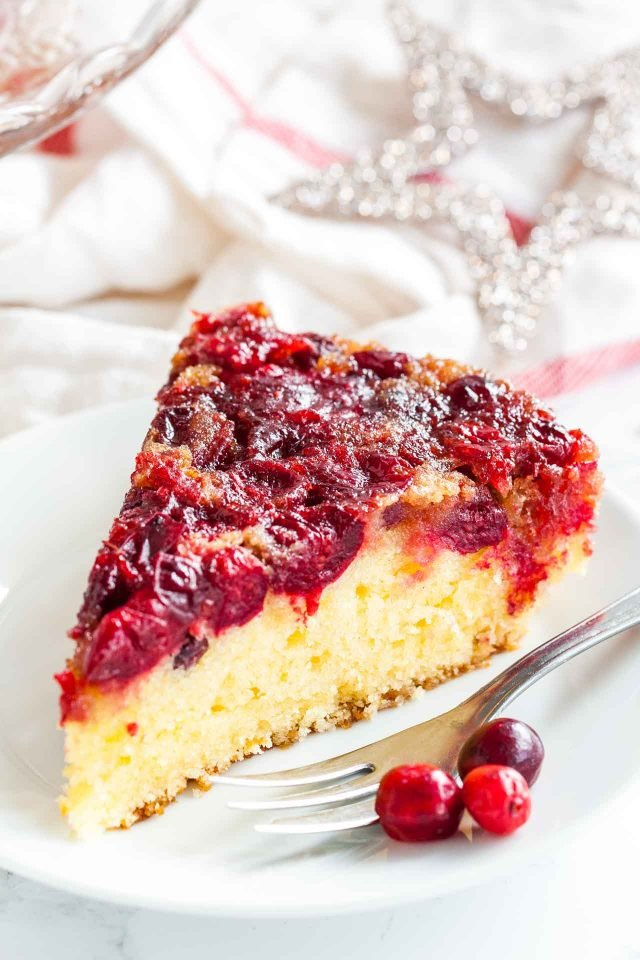 Cranberry Coffee Cake - a vibrant and festive cake that makes a great addition to your Holiday menu!