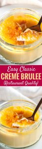Creme Brulee is the perfect make-ahead dessert that will impress your guests! A silky, smooth vanilla custard topped with a layer of brittle caramel, that is easier to make at home than you think.