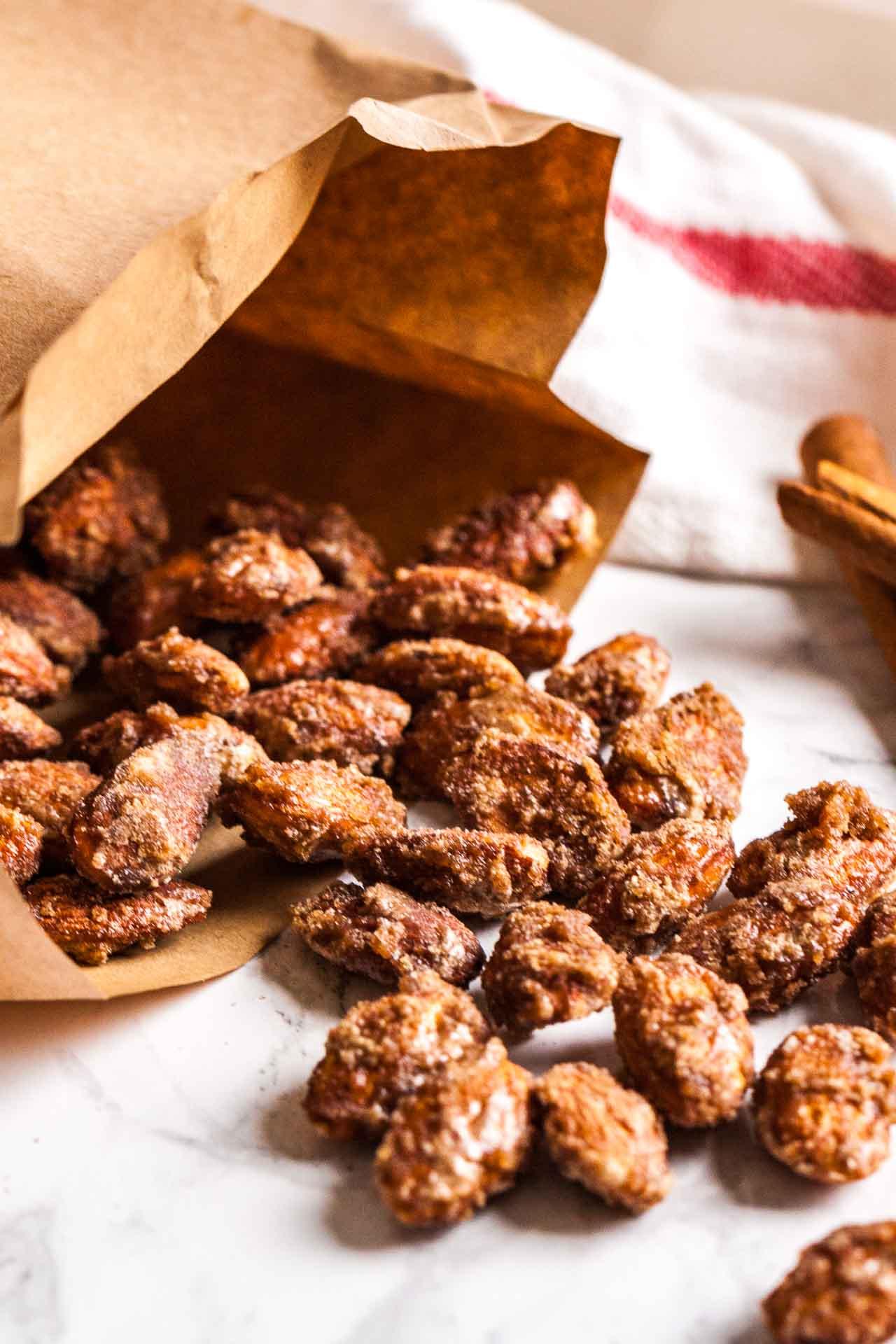 Cinnamon Almonds make a great holiday gift!