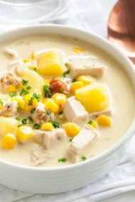 Creamy Leftover Turkey Soup