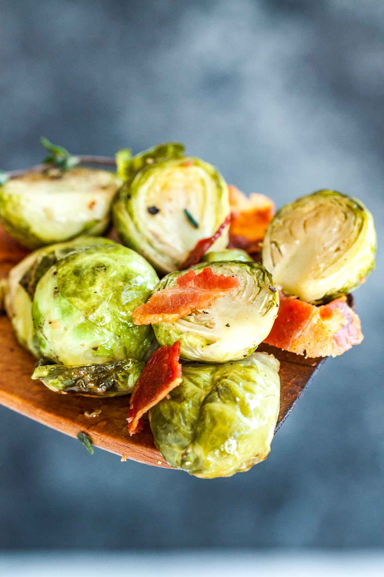 Brussels Sprouts with Bacon are easy to make and are bursting with flavor!