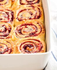 Cranberry Sweet Rolls with Orange Glaze are so gooey and tender!