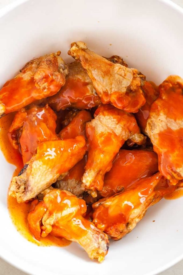 Crispy Air Fried Wings tossed with Buffalo Wings Sauce