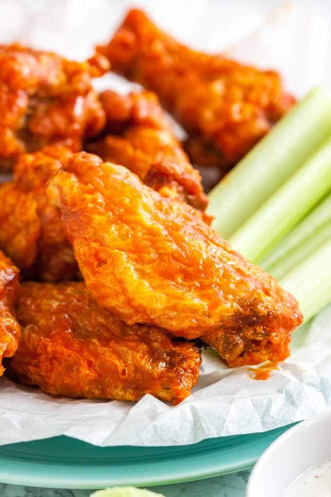 Buffalo Chicken Wings on a plate