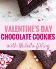 Valentine's Day Chocolate Sugar Cookies