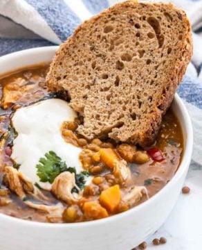 Instant Pot Chicken Lentil Soup