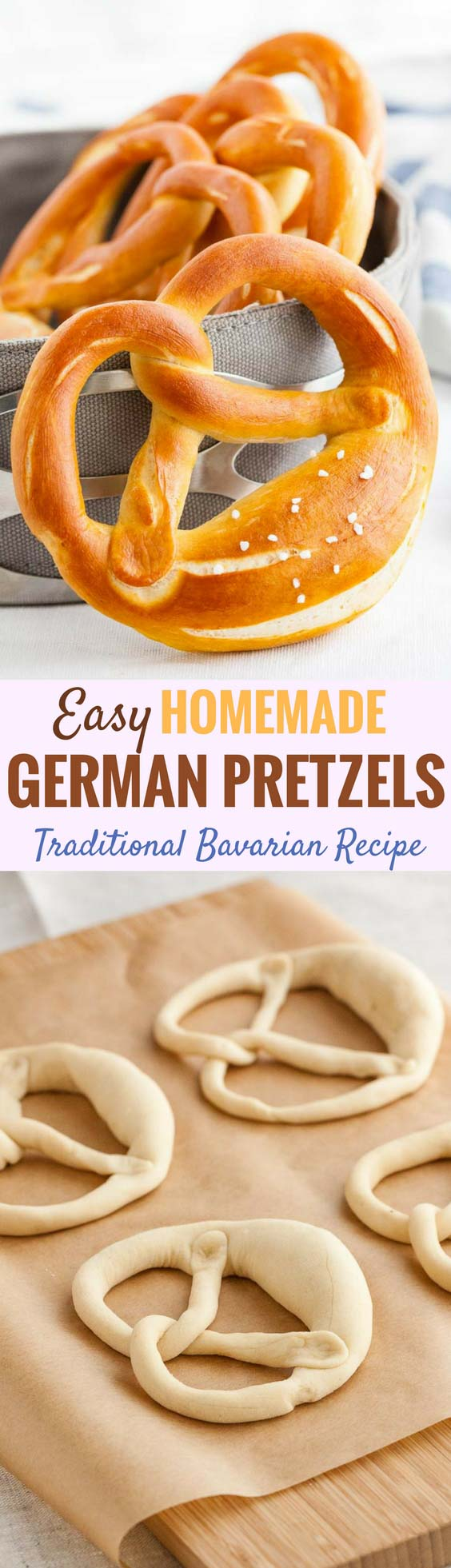 These Bavarian pretzels are a very popular snack in Germany and perfect for your next Oktoberfest party! They taste delicious dipped in cheese sauce and are easy to make at home with simple ingredients. This authentic German Pretzel Recipe makes enough for a crowd as an appetizer. #germanpretzels #germanrecipes #softpretzels #pretzels #oktoberfestrecipes