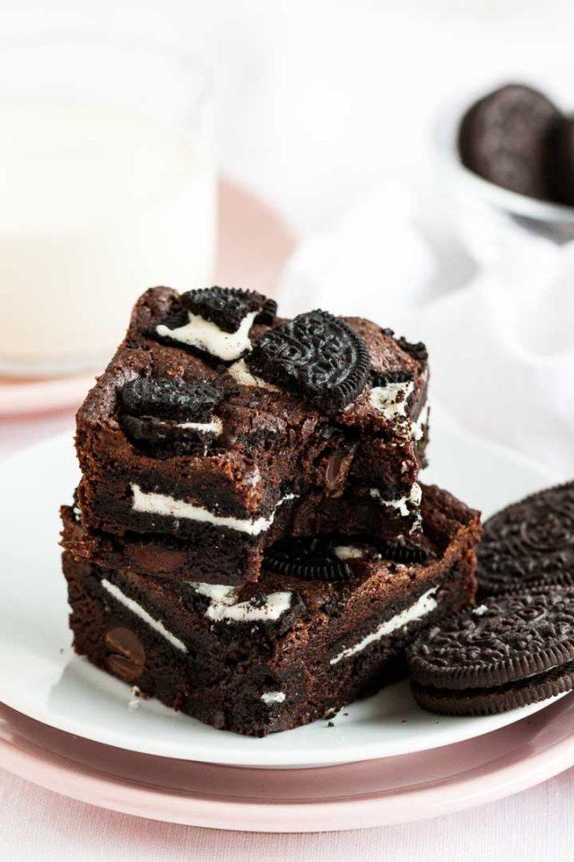 Oreo Brownies Fudge Brownies Stuffed With Cookies
