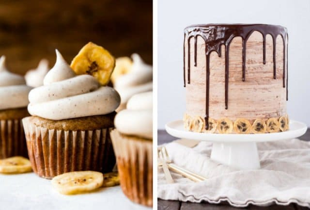 Banana Cupcakes and Banana Nutella Cake