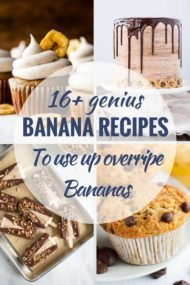 16 Delicious Recipes to Use up Ripe Bananas
