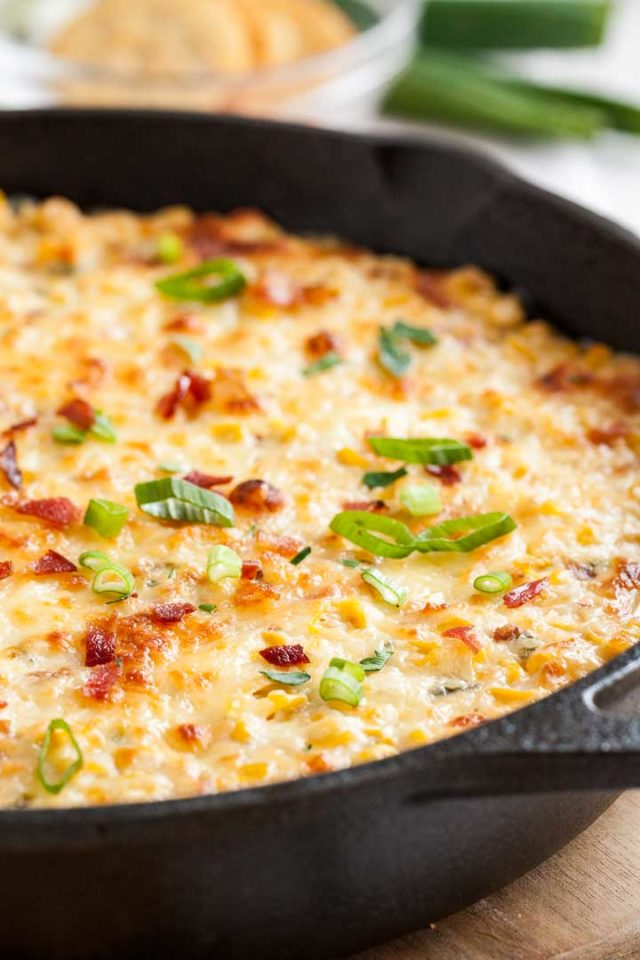 Corn Dip with Cream Cheese and Bacon