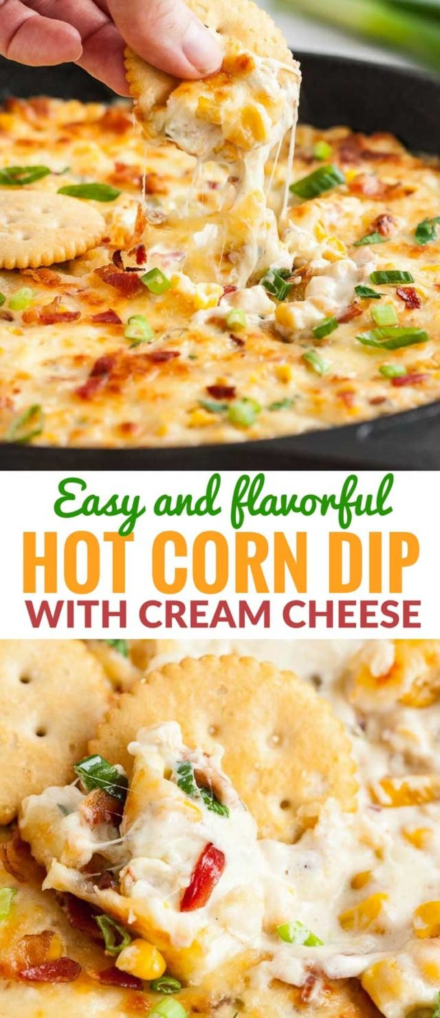 Hot Corn Dip with Bacon and Cream Cheese