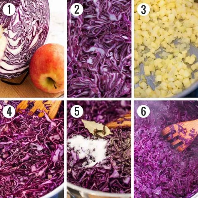 Step by Step Photos for How to Make German Red Cabbage