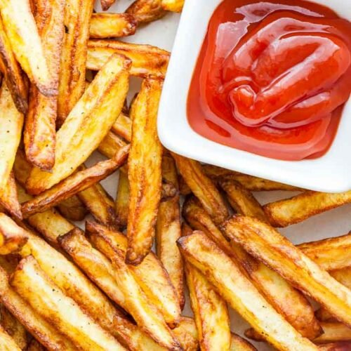 Air Fryer French Fries Crispy Healthy Plated Cravings