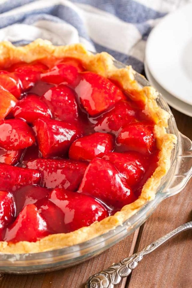 Fresh Strawberry Pie from scratch