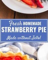 Fresh Strawberry Pie without Jello