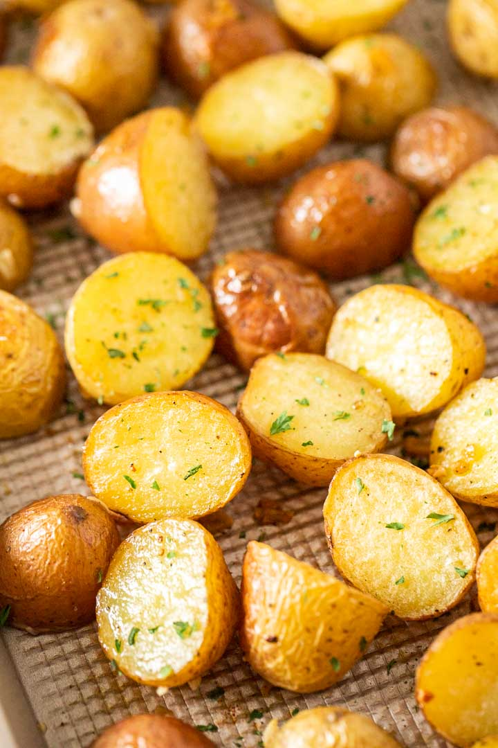 Easy Oven Roasted Potatoes Recipe Golden Crispy Plated Cravings