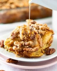 Overnight French Toast Casserole with Pecan Streusel