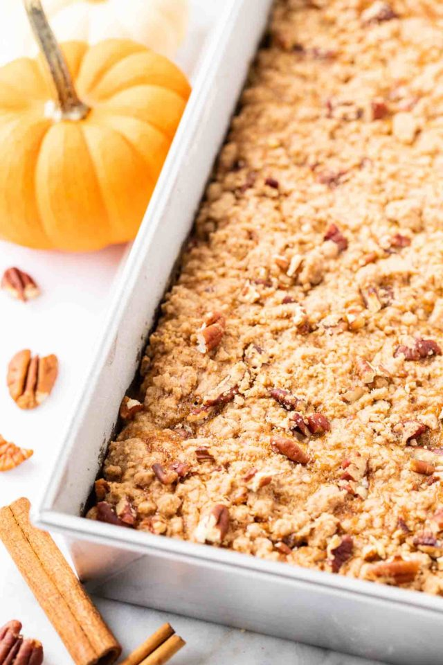 Pumpkin Crunch Sheet Cake