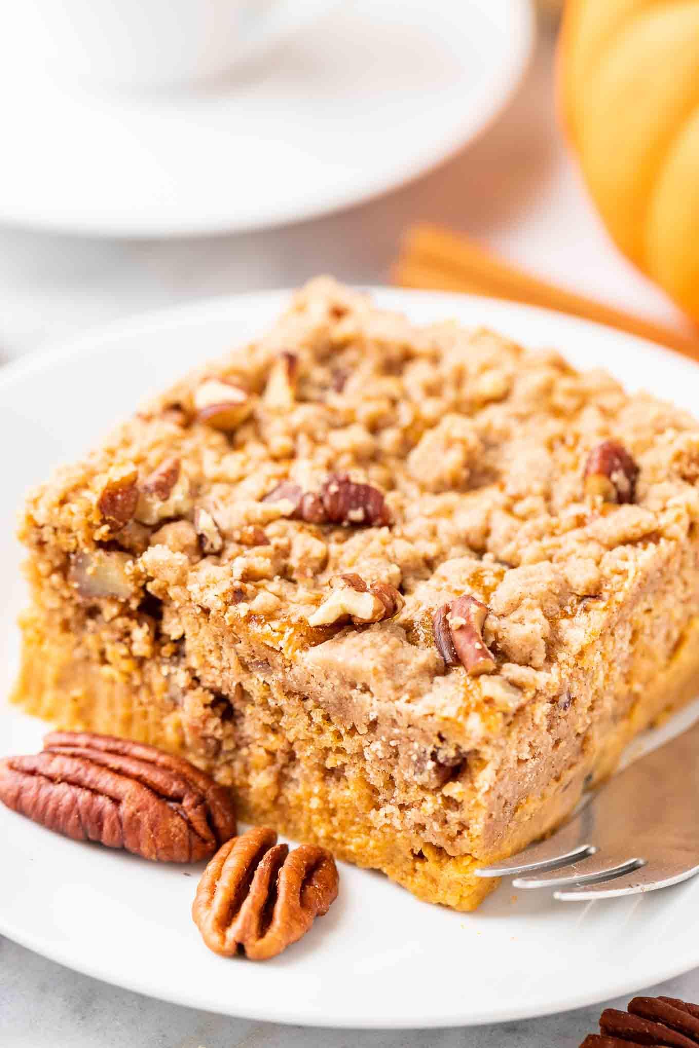 Pumpkin Crunch Cake Easy Pumpkin Pie Sheet Cake Plated Cravings