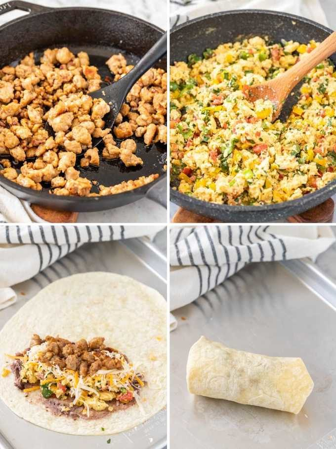 How to Make Breakfast Burritos