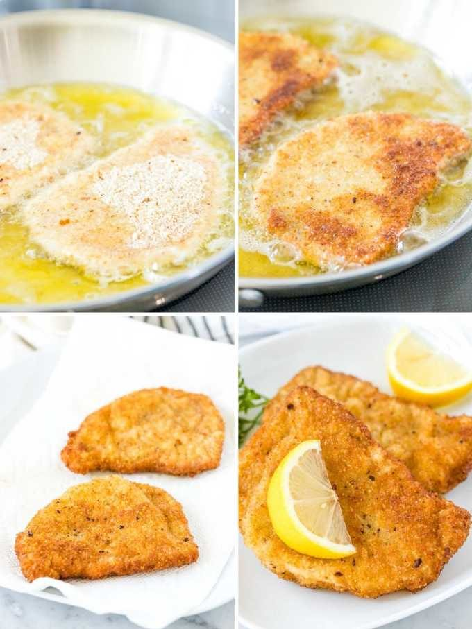 How to pan-fry Schnitzel Collage