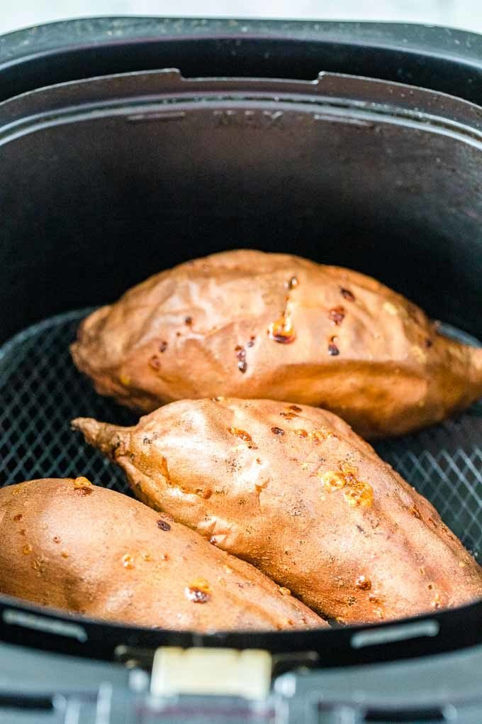 Baked Sweet Potatoes in the Air Fryer