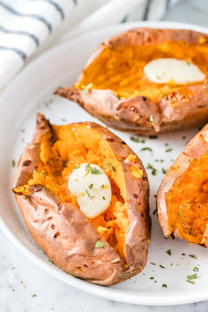 Air Fryer Sweet Potatoes Baked It The Air Fryer Plated Cravings