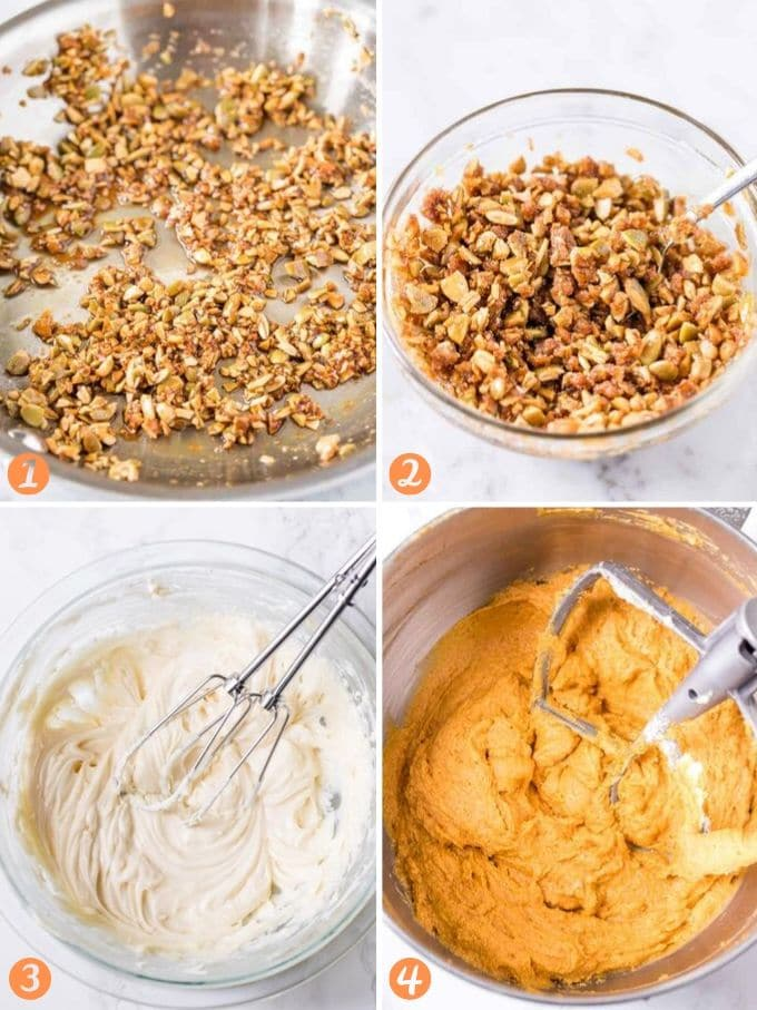 Step by step instructions for making Pumpkin Cream Cheese Muffins