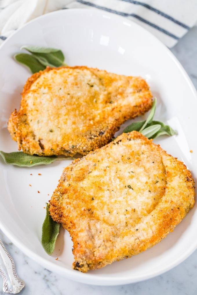 Air Fryer Breaded Pork Chops Plated Cravings