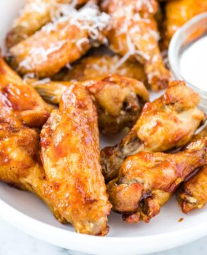 Chicken Wings on a serving plate