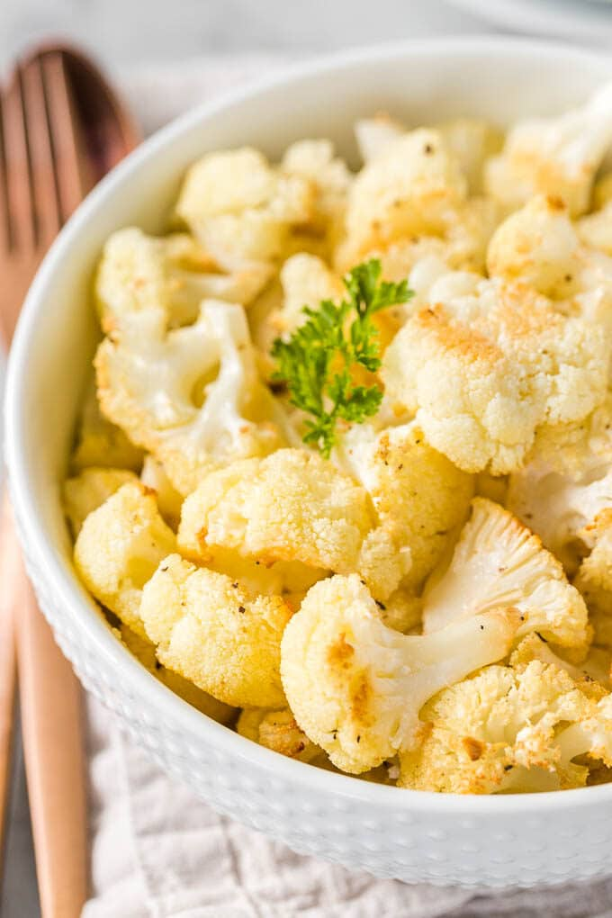 Roasted Cauliflower in a bowl