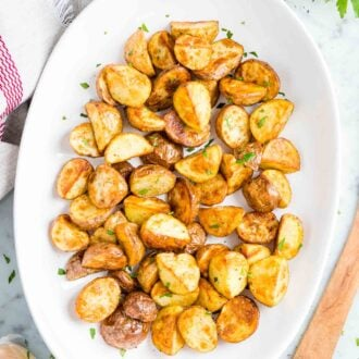 Roasted Potatoes on a serving platter