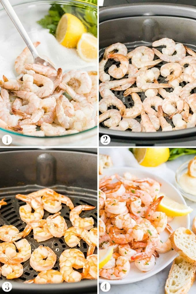 How to Make Shrimp in the Air Fryer Collage