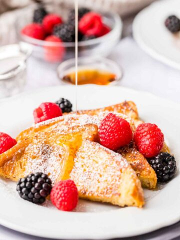 French Toast drizzled with maple syrup