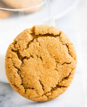 Ginger Snap Cookie with a glass of milk