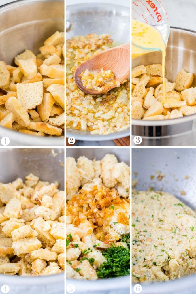How to Make Bread Dumplings Collage