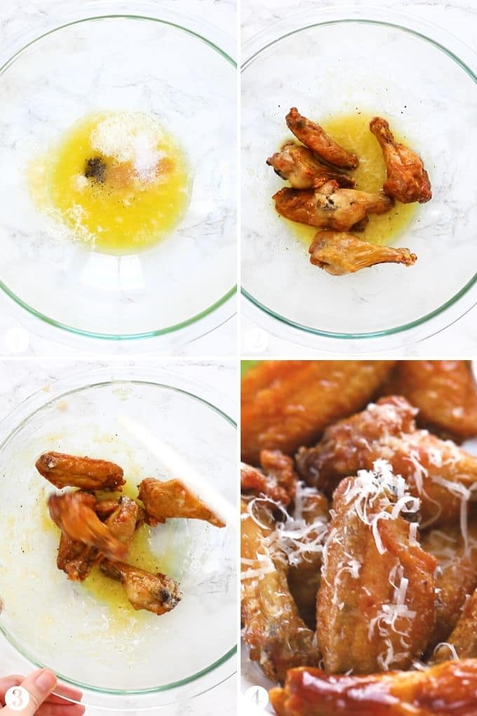 How to make Garlic Chicken Wing Sauce Collage