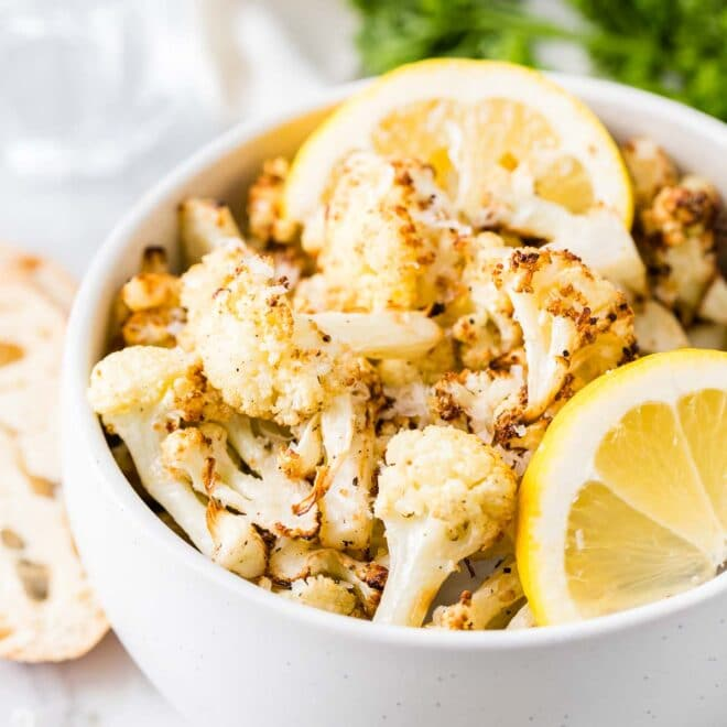 Roasted Cauliflower in a bowl